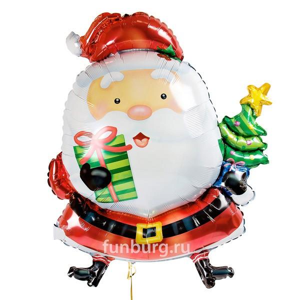 Шар из фольги «Рождественский Санта»