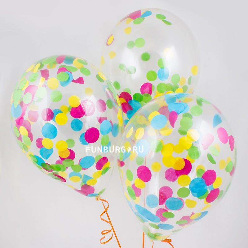 Шар с конфетти «Разноцветное конфетти» фото