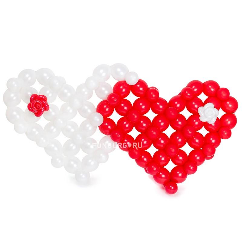 Фигура из шаров «Ажурные сердца» фото