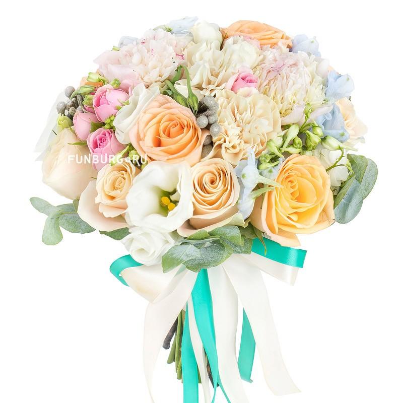 Букет невесты «Персиковый мусс»