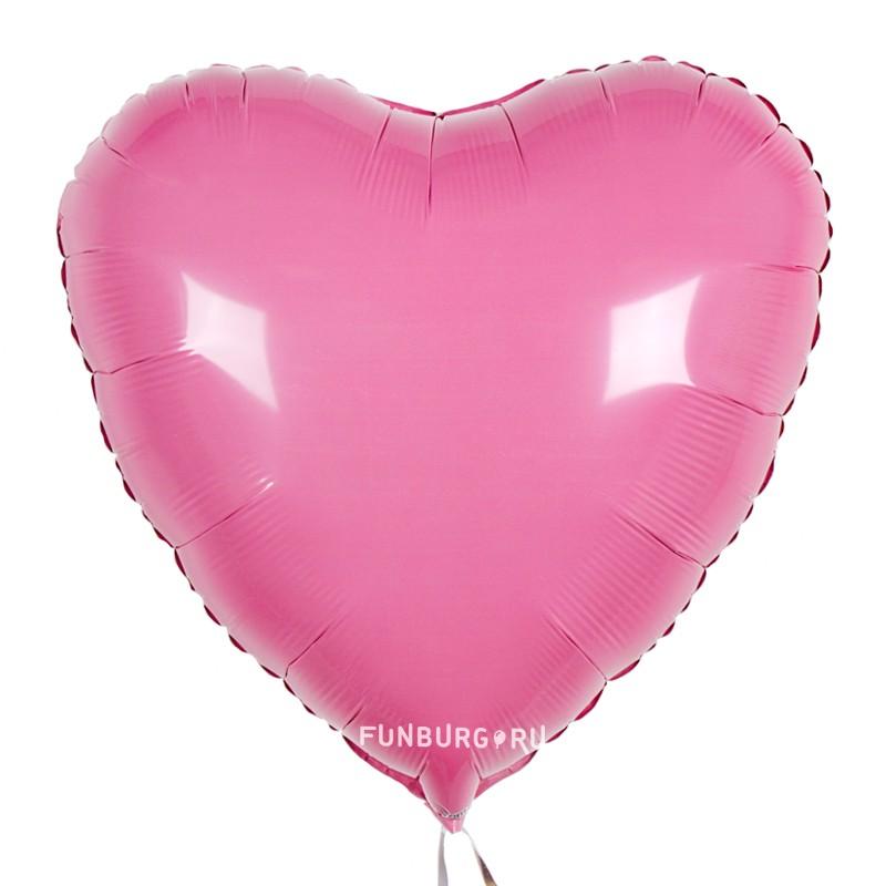 Купить Шар из фольги «Сердце розовое» (пастель)