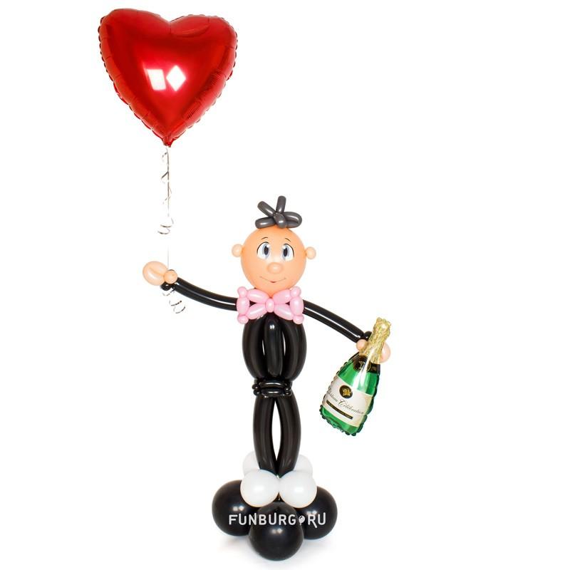 Фигура из шаров «Влюблённый кавалер» фото