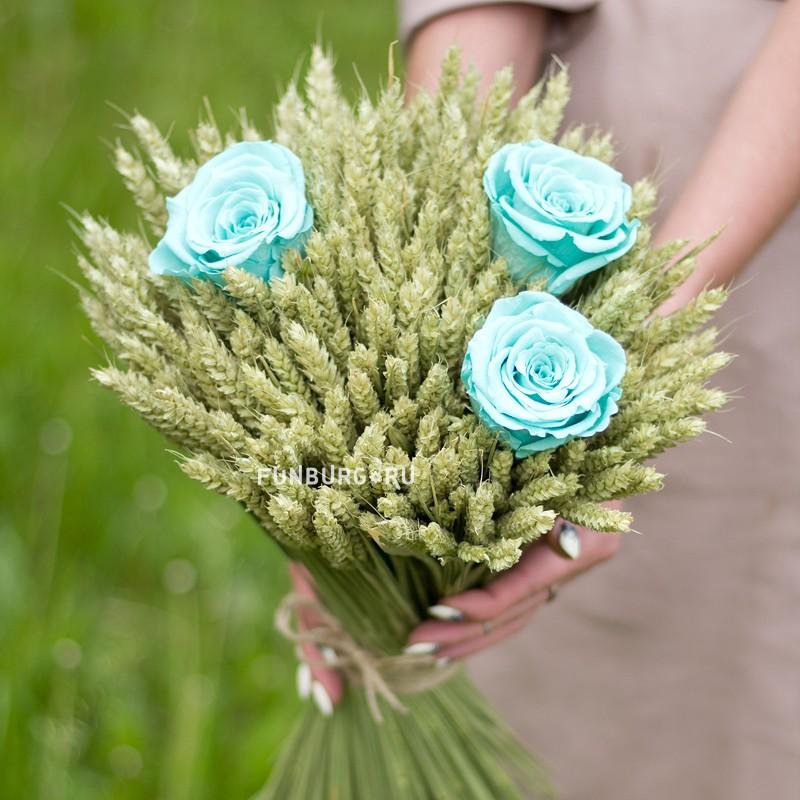 Букет из сухоцветов «Летний»  - купить со скидкой