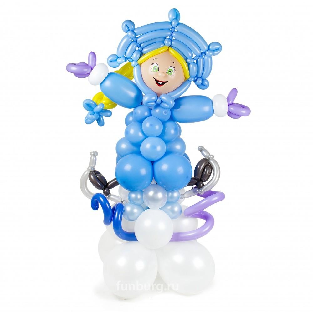 Фигура из шаров «Снегурочка» фото