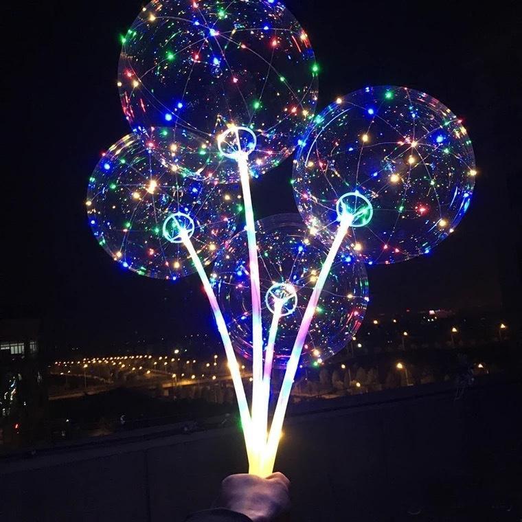 Светящийся шар Bubble на палочке «С LED-гирляндой» фото