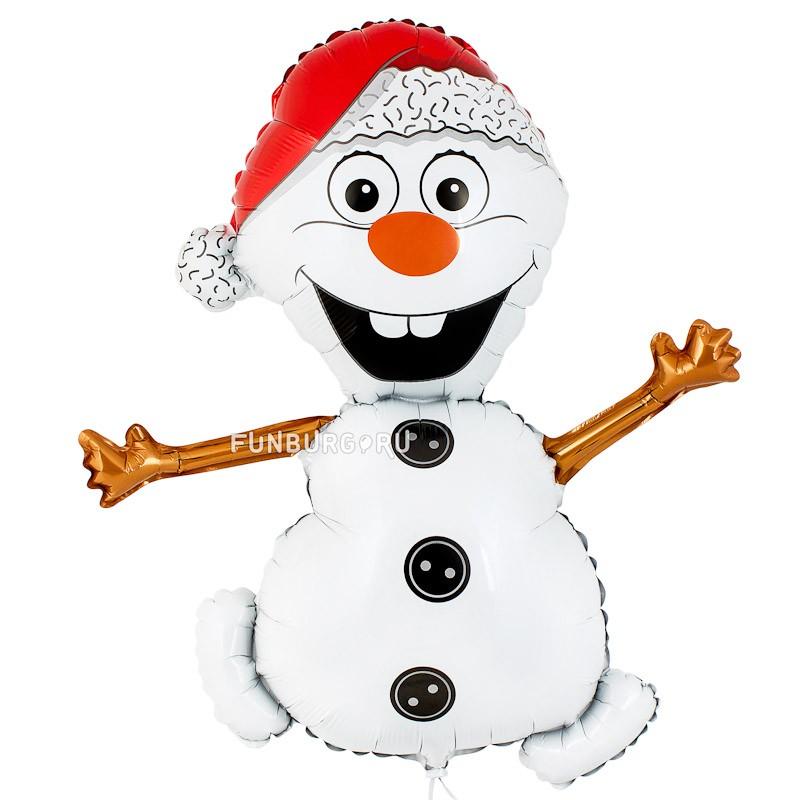Шарик из фольги «Снеговик Олаф»Из фольги с рисунком<br> <br>Размер:<br><br><br>высота 81 см (32)<br><br> <br>Производство:<br><br><br>Flexmetal, Испания<br><br>