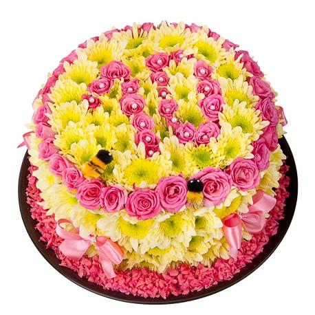 Игрушка из цветов «Ароматный десерт»