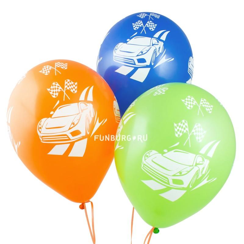 Воздушные шары «Машинки»Латексные с рисунком<br>Размер: 30 см (12)<br> Производитель: Sempertex, Колумбия<br> Цвет шаров: ассорти (пастель)<br>