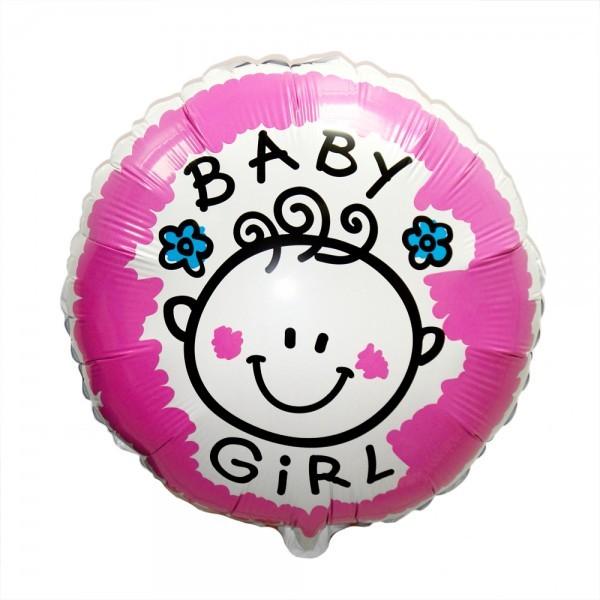 Шар из фольги «Baby Girl»Из фольги с рисунком<br>Размер: 48 смПроизводитель: Betallic, США<br>