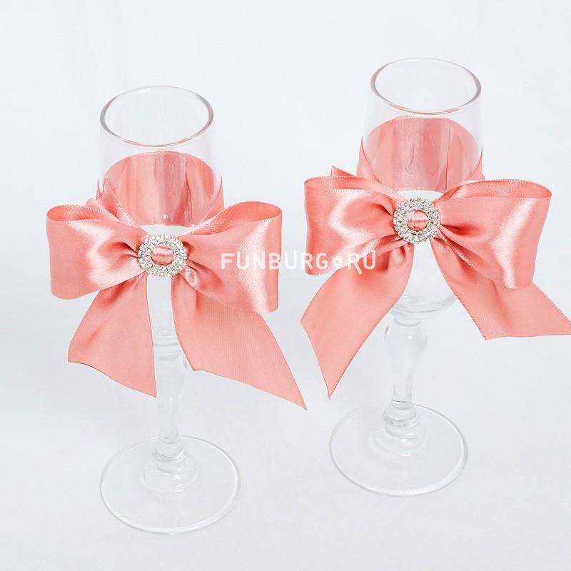 Свадебные бокалы «Акварель» фото