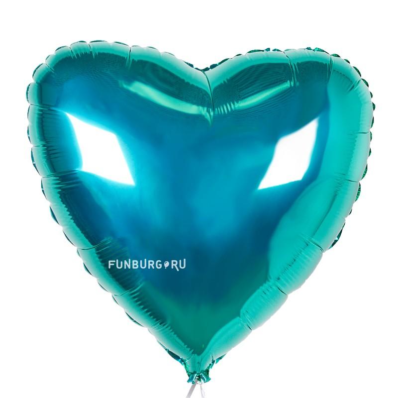 Шар из фольги «Бирюзовое сердце»