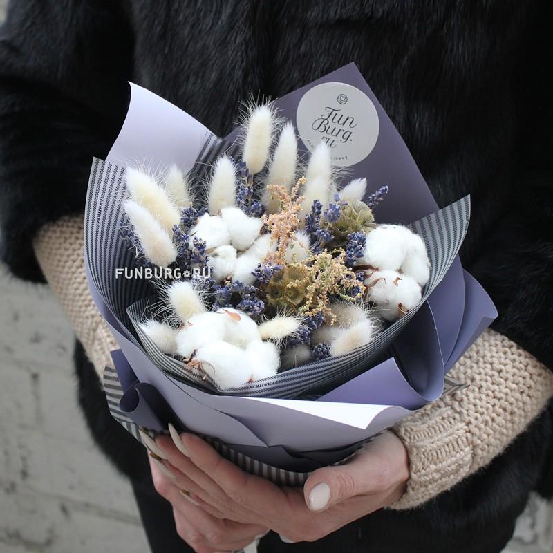 Купить Букет из сухоцветов «Уютный»