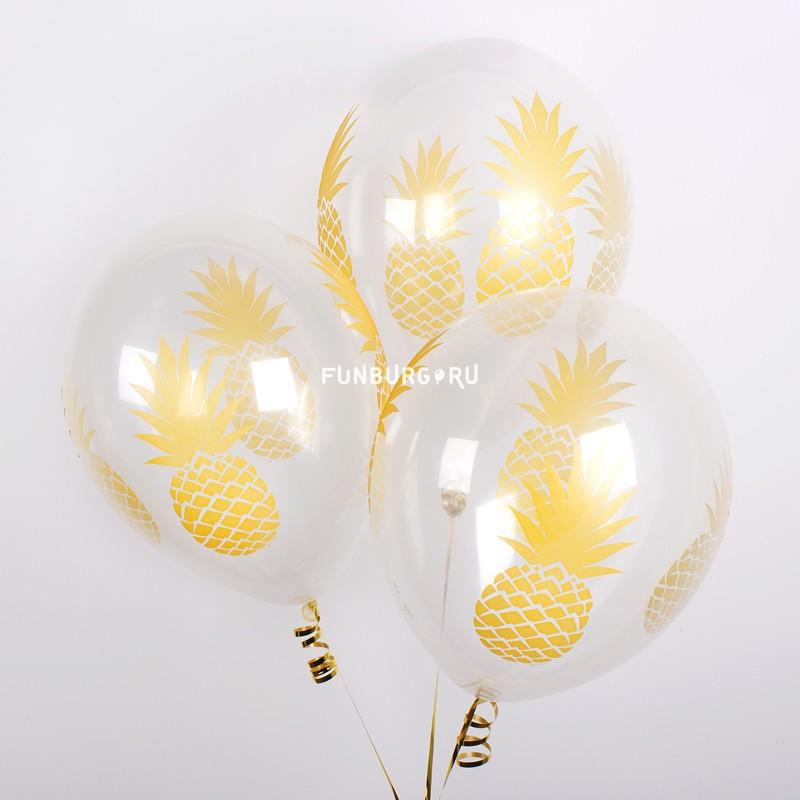 Воздушные шары «Ананасы» фото