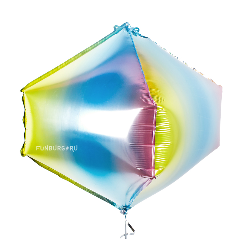 Шар из фольги «3D циркон» (нежная радуга) фото