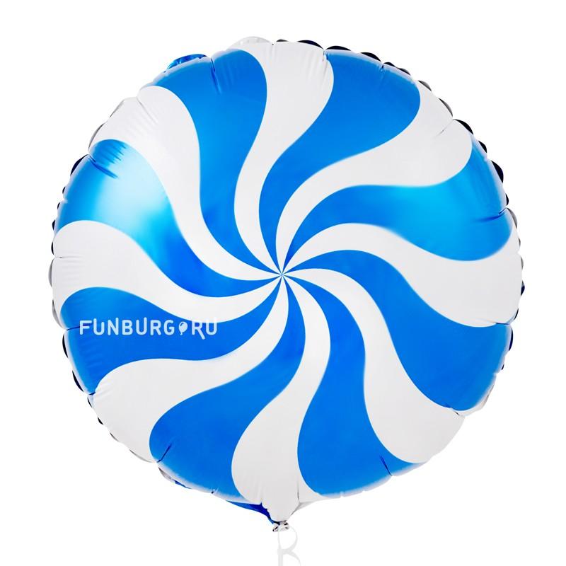 Шарик из фольги «Карамель» (голубой)