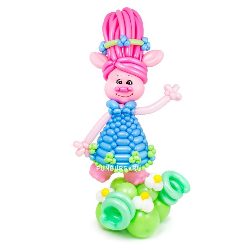 Купить Фигура из шаров «Принцесса Розочка (м/ф «Тролли»)»