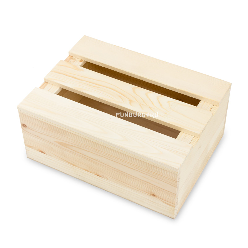 Деревянный ящик №6 с крышкойУпаковка подарков<br> <br>Размер:<br><br><br>37?27?15 см<br><br><br> <br>Материал:<br><br><br>дерево<br><br>