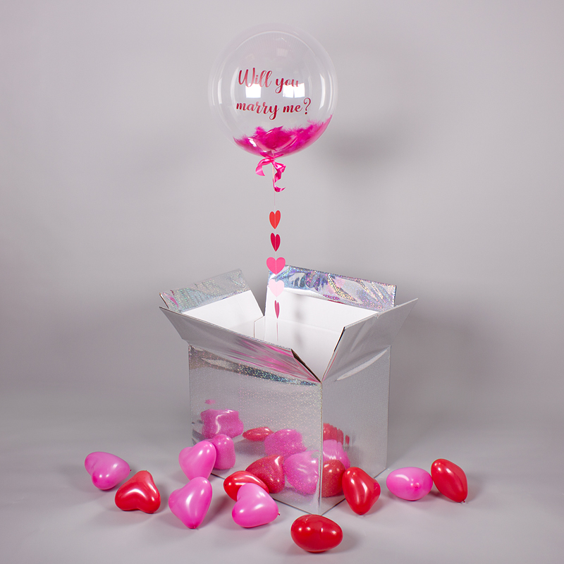Коробка-сюрприз с шаром Bubble «Marry Me» фото