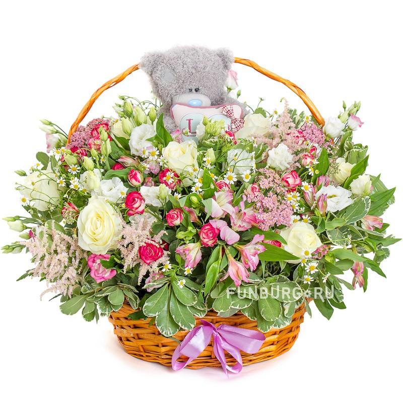 Корзина цветов «Возвращение в детство»