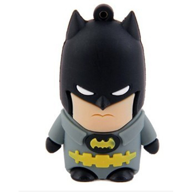 USB-flash 8Gb «Бэтмен»Креативные флешки<br>Размер: 4,5?3?2 см <br>Материал: пластик, резина, металл <br>Объем: 8 Гб<br>