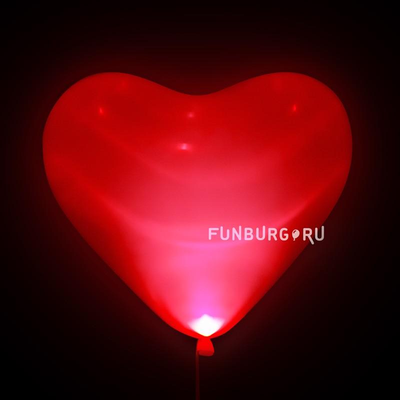 Купить Светящиеся шары (16дюймов) «Красные сердца»