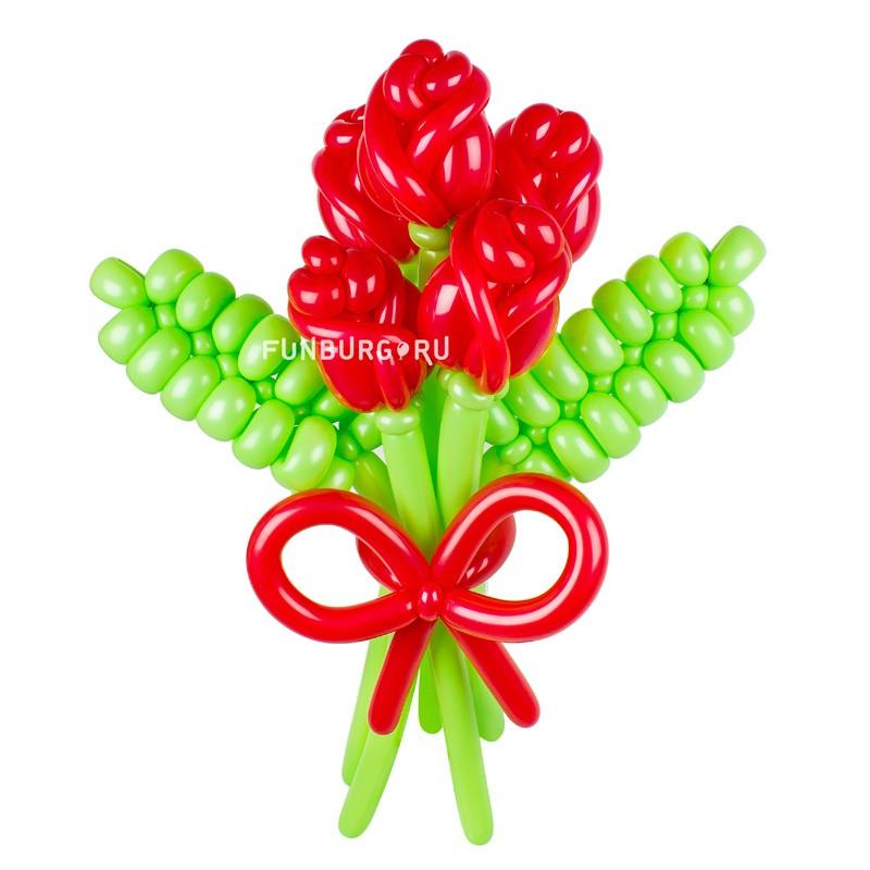 Цветы из шаров «Цветочки любимой» фото