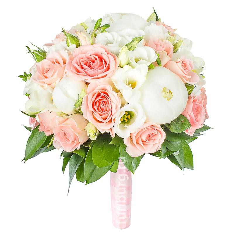 Букет невесты «Согласие» (в розовом цвете)
