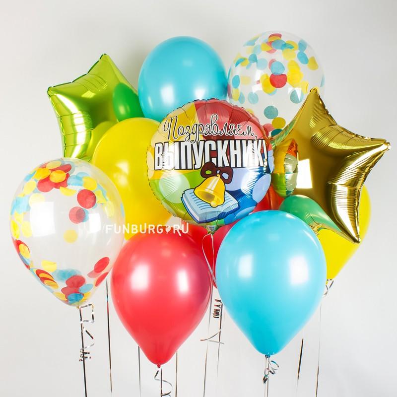 Набор шаров «Выпускник»Выпускной<br><br> Вы можете корректировать количество шаров в наборе по своему желанию.<br><br>