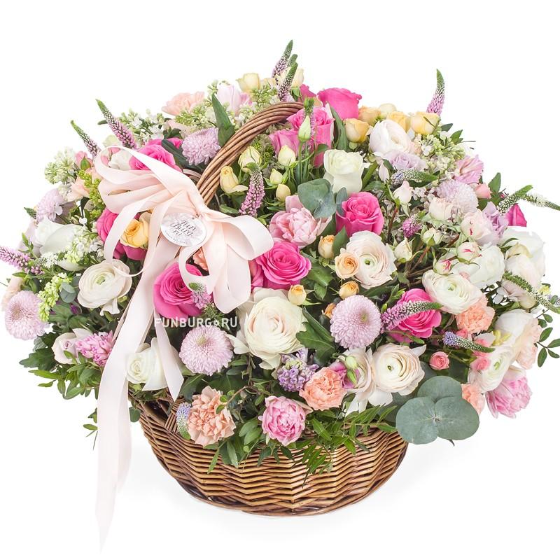 Купить Корзина цветов «Роскошь»