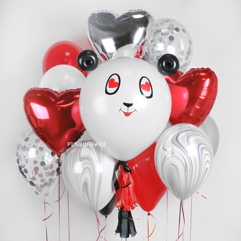 Набор шаров «Влюбленная панда» фото