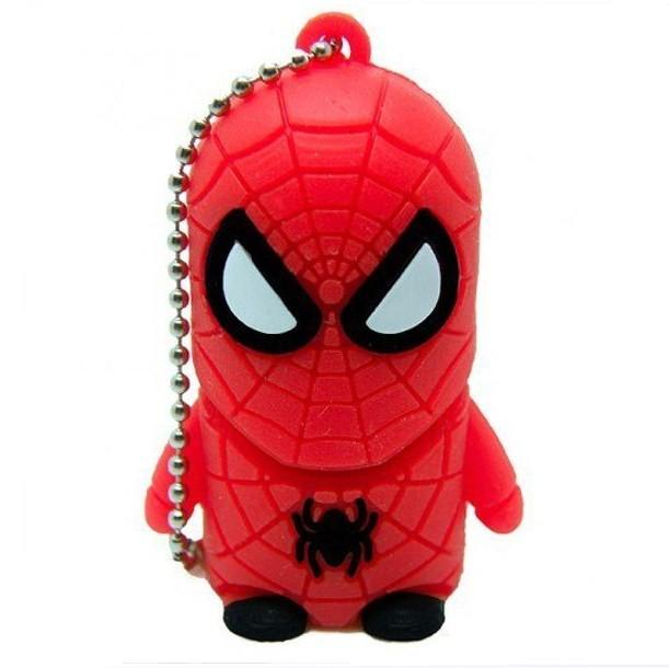 USB-flash 8Gb «Человек Паук»Креативные флешки<br>Размер: 4,5?3?2 см <br>Материал: пластик, резина, металл <br>Объем: 8 Гб<br>
