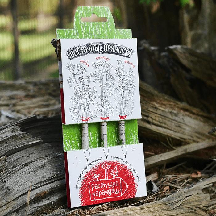 Набор графитных растущих карандашей «Восточные пряности», 3 шт фото
