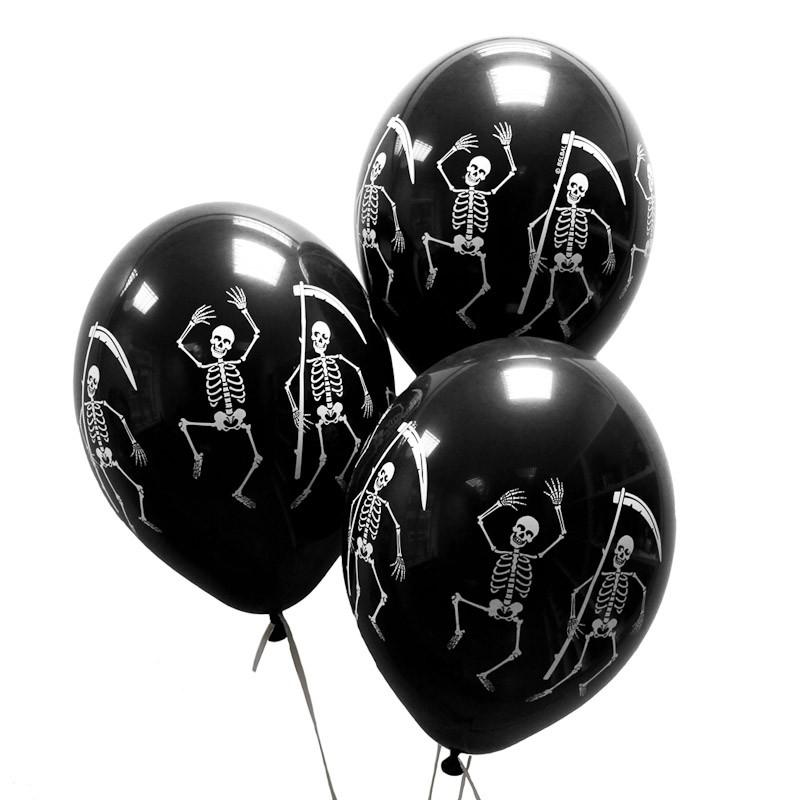 Воздушные шары «Скелеты» фото