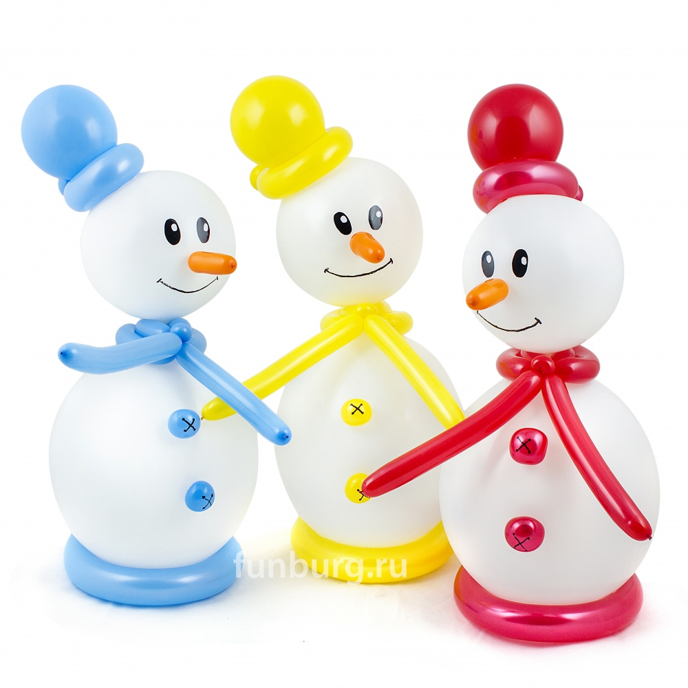 Фигура из шаров «Маленький снеговик»Все фигуры<br>Высота: 55 см<br>
