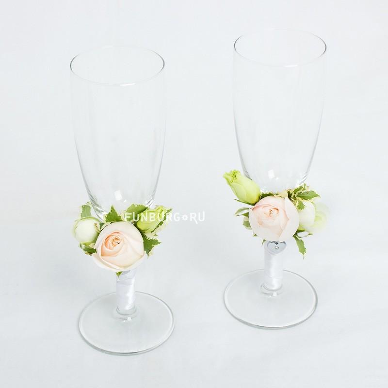 Купить Свадебные бокалы «Хрупкие цветы»
