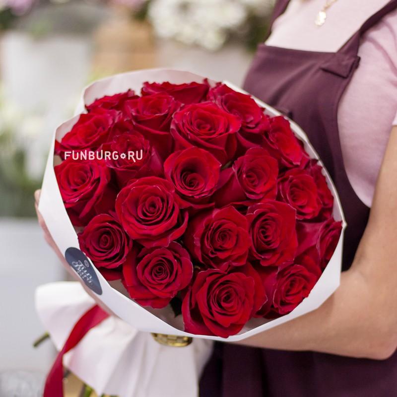 Букет роз в стиле «Вечерний Ургант» фото