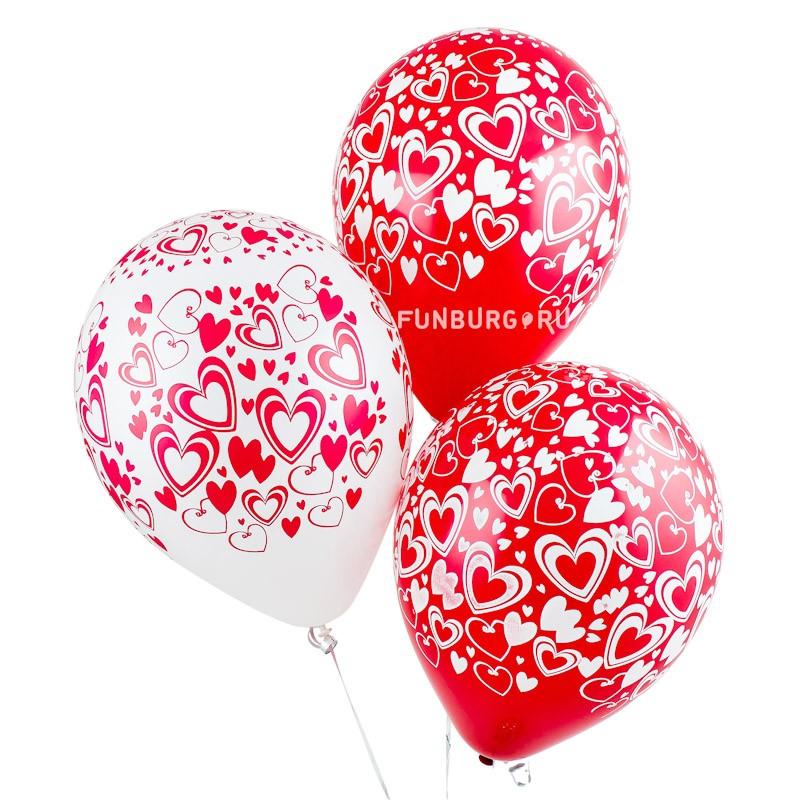 Воздушные шары «Кокетливые сердечки» фото