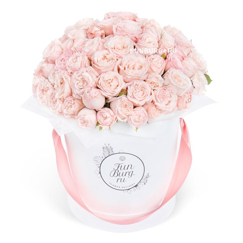 Цветы в шляпной коробке «Бомбастик»