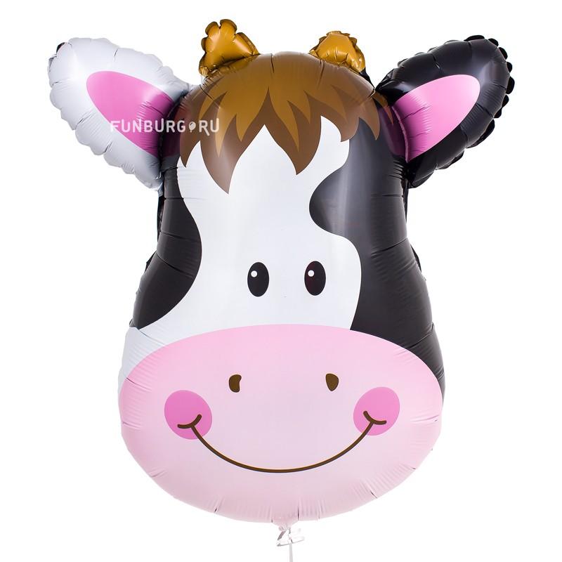 Купить Шар из фольги «Корова»