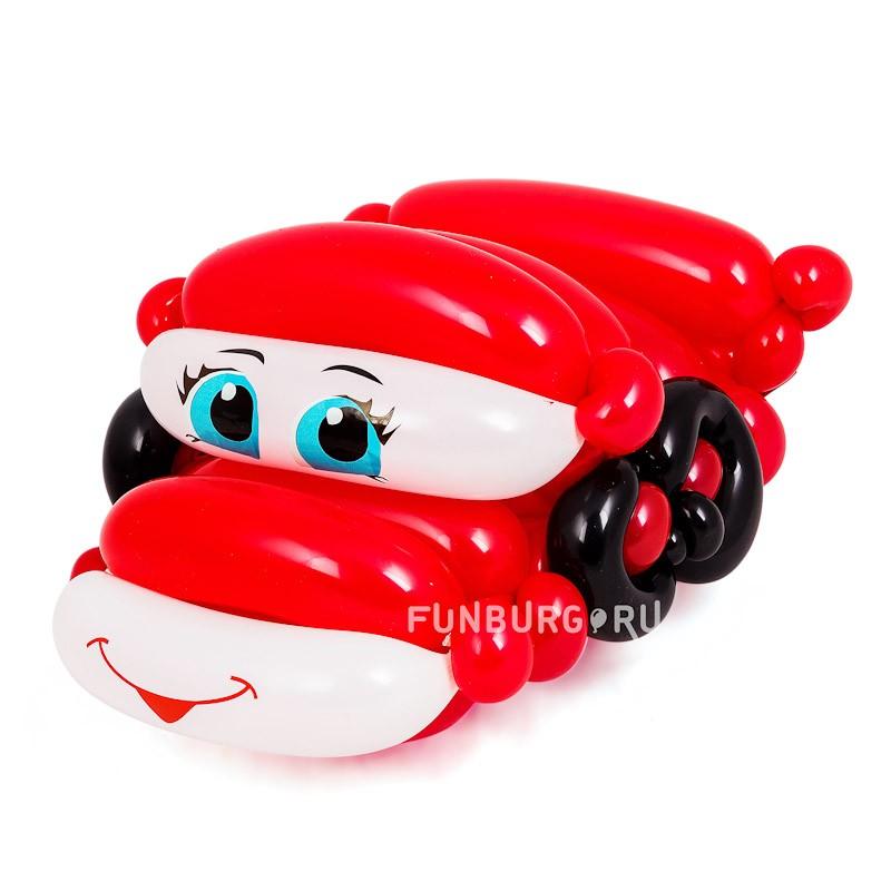 Фигура из шаров «Тачка» фото