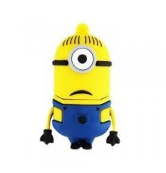 USB-flash 8Gb «Миньон Стюарт»Креативные флешки<br>Размер: 5?3?3 см <br>Вес: 30 г<br>Материал: прорезиненный пластик<br>