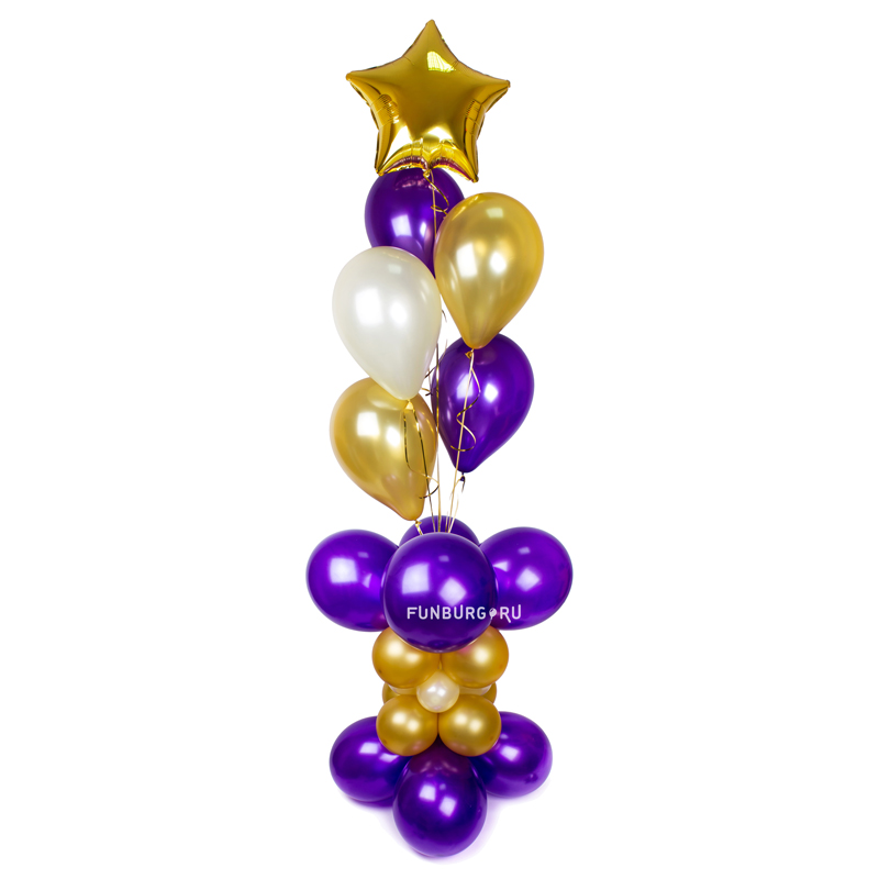 Элемент оформления «Стойка с фонтаном шаров» фото