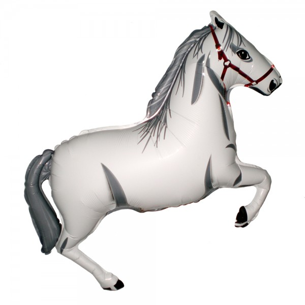 Шарик из фольги «Белая лошадка» фото
