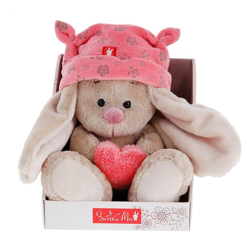 Мягкая игрушка «Зайка Ми в розовой шапке с сердечком»Зайка Ми<br> <br>Размер:<br><br><br>высота 15 см<br><br> <br>Бренд:<br><br><br>Зайка Ми<br><br>