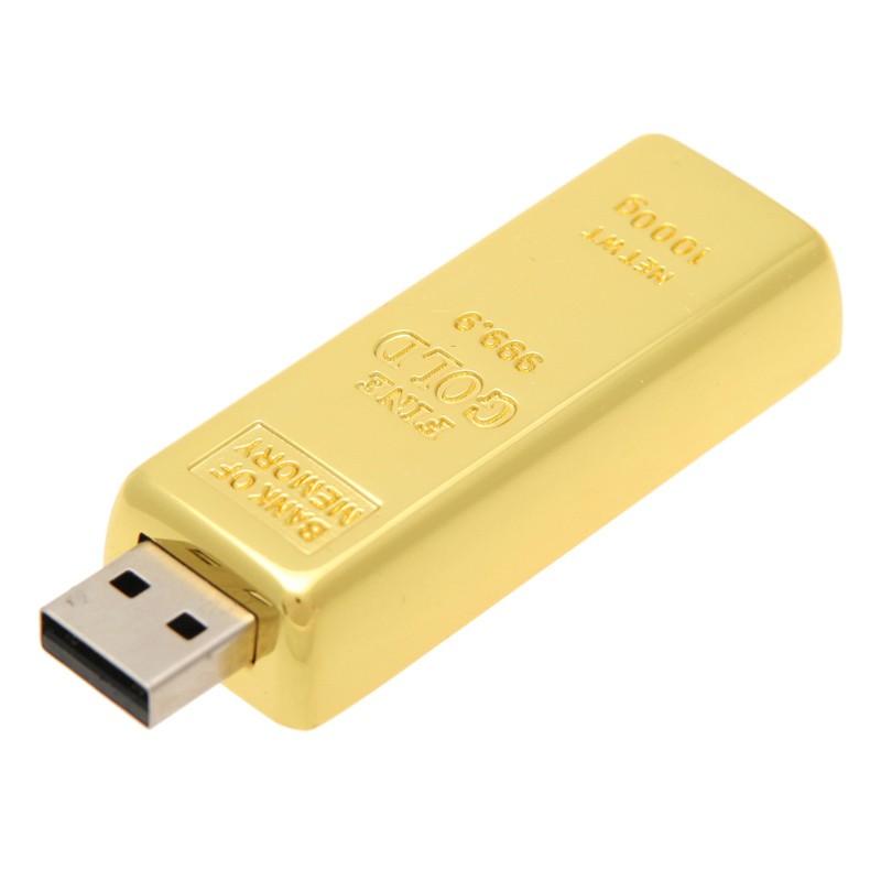 USB-flash 8Gb «Золотой слиток»Креативные флешки<br>Материал:  металл Объем:  8 Гб<br>