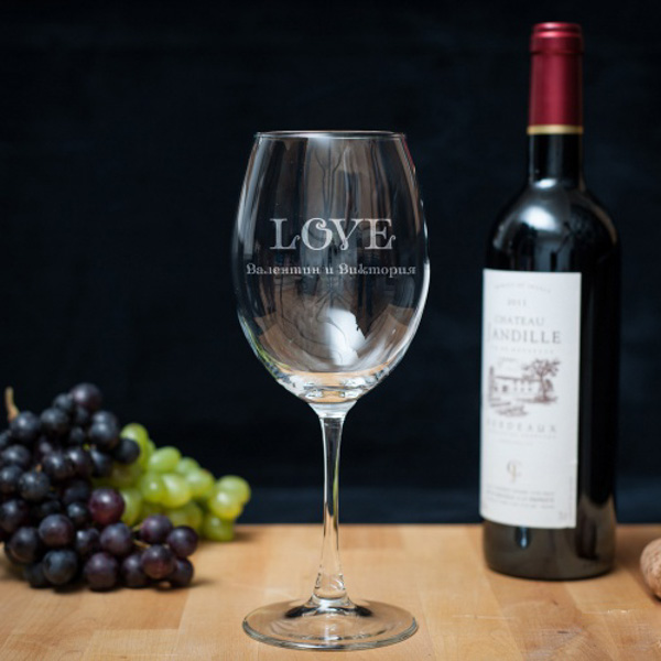 Винный бокал «Это любовь» фото