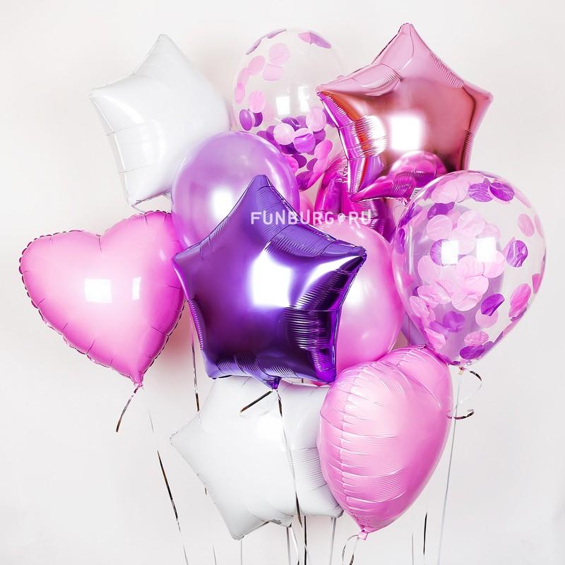 Набор шаров «Фиолетовая звезда»Наборы шаров<br><br>Вы можете корректировать количество шаров в наборе по своему желанию.<br><br>