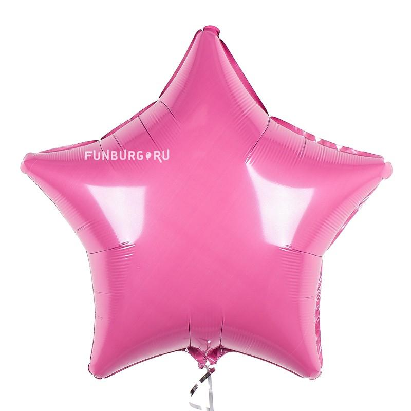 Шар из фольги «Звезда розовая (пастель)»  - купить со скидкой