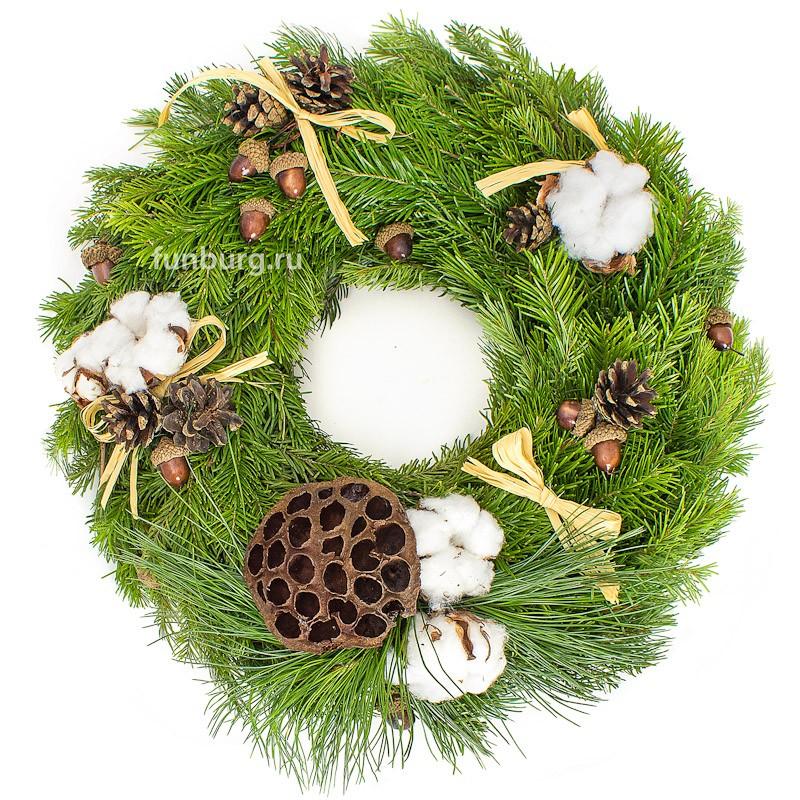 Купить Новогодний венок «Лесной аромат»