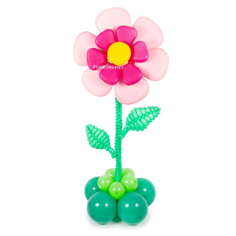 Фигура из шаров «Нежный цветок» фото